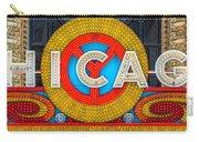Chicago Theatre Sign V3crop Details Dsc2176 Carry-all Pouch