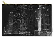 Chicago Wacker Drive Night Portrait Carry-all Pouch