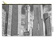 Chicago Water Tower Shopping Black And White Carry-all Pouch