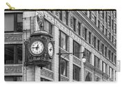 Chicago's Father Time Clock Bw Carry-all Pouch