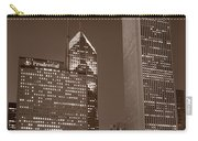 Chicagos Millennium Park Bw Carry-all Pouch by Steve Gadomski