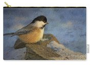 Chickadee Winter Perch Carry-all Pouch