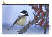 Chickadee With Craquelure Carry-all Pouch