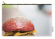Chicken Burger With Gherkins Beetroot Bread Bun Carry-all Pouch