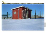 Chicken Coop In Snow Covered Field Carry-all Pouch