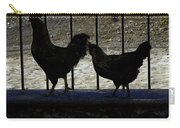 Chicken In Silhousette Carry-all Pouch