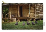 Chickens - Log House - Farm Carry-all Pouch
