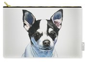 Chihuahua Black Spots With White Carry-all Pouch