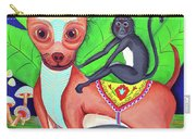 Chihuahuaw/monkie Carry-all Pouch