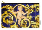 Child In Blue And Gold Carry-all Pouch
