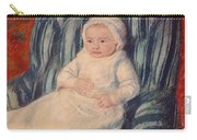 Child On A Sofa Carry-all Pouch by Mary Cassatt