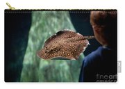 Child Watching Spotted Ray Fish Carry-all Pouch