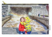 Children And A Rainbow Carry-all Pouch