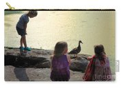Children At The Pond 1 Carry-all Pouch