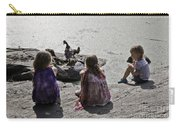 Children At The Pond 2 Carry-all Pouch