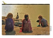 Children At The Pond 4 Carry-all Pouch