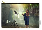 Children In Folk Costumes Playing Violin In Thailand Carry-all Pouch