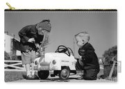 Children Play At Repairing Toy Car Carry-all Pouch