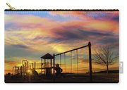 Children Playground At Sunset Carry-all Pouch
