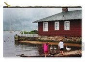 Children Playing At Harbor Essex Ct Carry-all Pouch