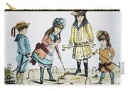 Children Playing Croquet Carry-all Pouch by Granger