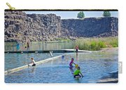 Children Playing In Dierkes Lake In Snake River Above Shoshone Falls Near Twin Falls-idaho  Carry-all Pouch