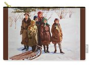 Children With A Sled Nikolai Petrovich Bogdanov-belsky Carry-all Pouch