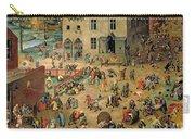 Children's Games Carry-all Pouch by Pieter the Elder Bruegel