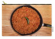 Chili In Black Pan On Wood Table With Jalapeno Pepper Carry-all Pouch