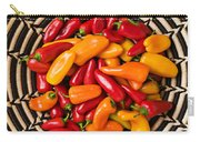 Chili Peppers In Basket  Carry-all Pouch