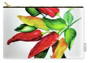 Chillies From My Garden Carry-all Pouch by Karin  Dawn Kelshall- Best