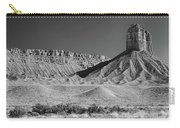 Chimney Rock In Black And White - Towaoc Colorado Carry-all Pouch