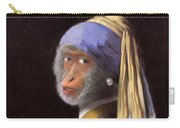 Chimp With A Pearl Earring Carry-all Pouch
