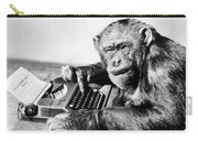 Chimpanzee & Typewriter Carry-all Pouch