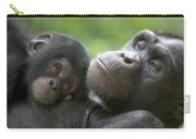 Chimpanzee Mother And Infant Carry-all Pouch