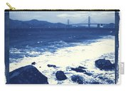 China Beach And Golden Gate Bridge With Blue Tones Carry-all Pouch