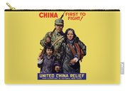 China - First To Fight - Ww2 Carry-all Pouch