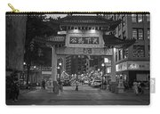 Chinatown Gate Boston Ma Black And White Carry-all Pouch