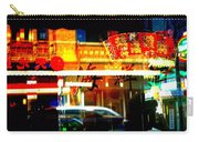 Chinatown Window Reflections 2 Carry-all Pouch by Marianne Dow
