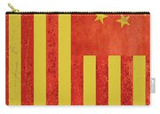 Chinese American Flag Vertical Carry-all Pouch