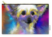 Chinese Crested Dog Puppy Painting Print Carry-all Pouch