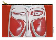 Chinese Porcelain Mask Red Carry-all Pouch