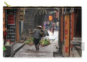 Chinese Woman Carrying Vegetables Carry-all Pouch