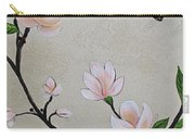 Chinoiserie - Magnolias And Birds #3 Carry-all Pouch