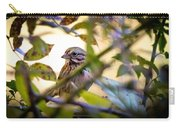 Chipping Sparrow In The Brush Carry-all Pouch