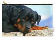 Chiron The Rottweiler  Carry-all Pouch