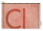 Chlorine Element Symbol Periodic Table Series 017 Carry-all Pouch