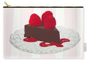Chocolate Cake On Pink Stripes Carry-all Pouch