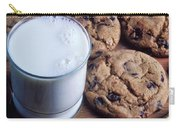 Chocolate Chip Cookies And Glass Of Milk Carry-all Pouch