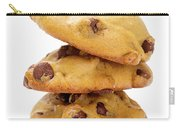 Chocolate Chip Cookies Isolated On White Background Carry-all Pouch